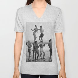 Vintage Beach Party 1 Unisex V-Neck