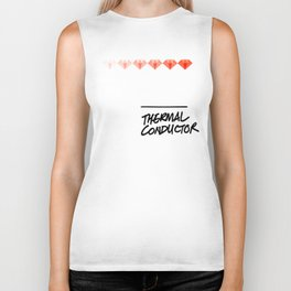 Diamonds Are A Girl's Best (Thermal Conductor) Biker Tank
