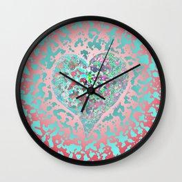 Loving Heart Abstract No. 4 Wall Clock