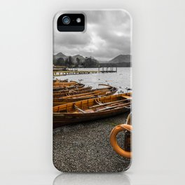 Boats at Derwent Water iPhone Case