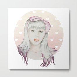Girl Pink Metal Print