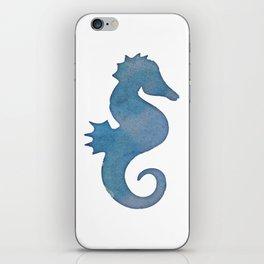 Watercolor Seahorse by Lo Lah Studio iPhone Skin