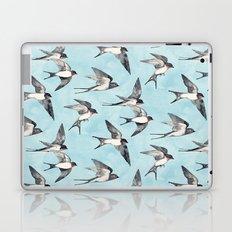 Blue Sky Swallow Flight Laptop & iPad Skin