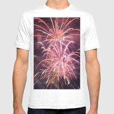 Fireworks Mens Fitted Tee White MEDIUM