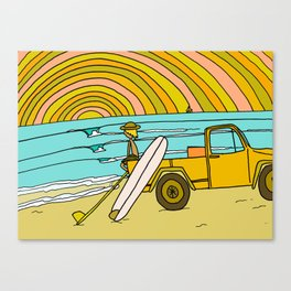 classic summer surf vibes forever Canvas Print