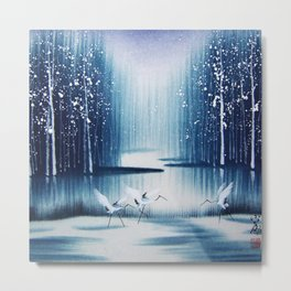 Winter Egrets  Metal Print