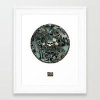 calender Framed Art Prints featuring Calender by Simon Prades