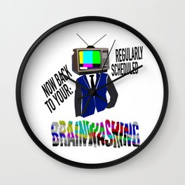 Brainwashed Wall Clock