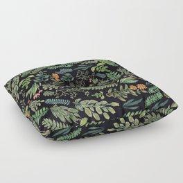 circular garden at nigth Floor Pillow