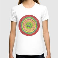 orange pattern T-shirts featuring Orange pattern  by MinaSparklina