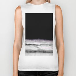 black and gray abstract landscape painting Biker Tank