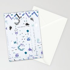 Ethnic and tribal motifs, zigzag lines, brushstrokes and splatters Stationery Cards
