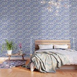 Azulejo VIII - Portuguese hand painted tiles Wallpaper