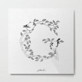 G is for Glókollur Metal Print