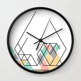 LessDanThree Brand Identity Wall Clock