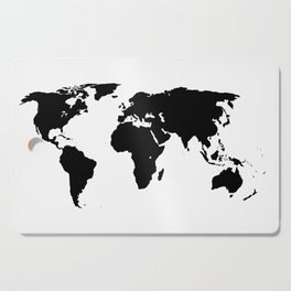 World Outline Cutting Board