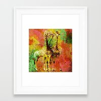 giraffe Framed Art Prints featuring Giraffe  by Saundra Myles