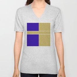 Team Color 6....Gold,blue Unisex V-Neck