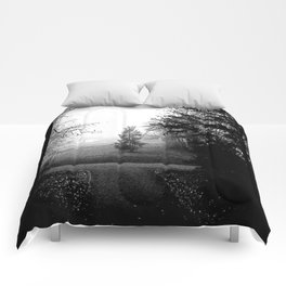 Black and White Woods Comforters