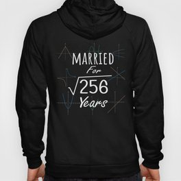 Math 16th Anniversary Gift Married Square Root Of 256 Years product Hoody
