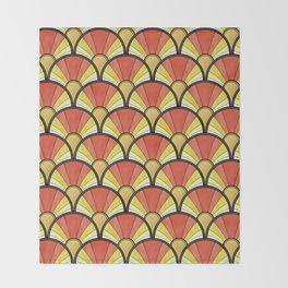 Radiant Sunshine Art Deco Pattern Throw Blanket