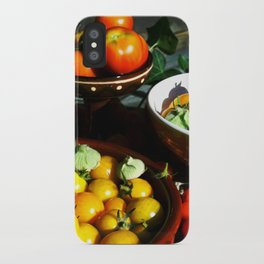 Yellow and red tomatoes II iPhone Case