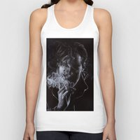 benedict cumberbatch Tank Tops featuring BENEDICT CUMBERBATCH II by theredgrassofgallifrey