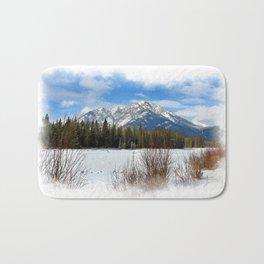 Scenic Cascade Mountain - Banff Alberta Bath Mat