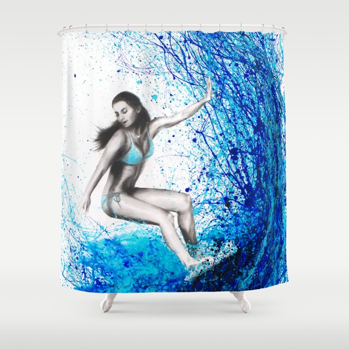 Thoughts and Waves Shower Curtain