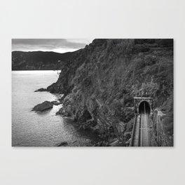Train Tunnel in Vernazza Canvas Print