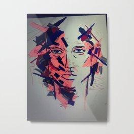 Fabricated Face Metal Print