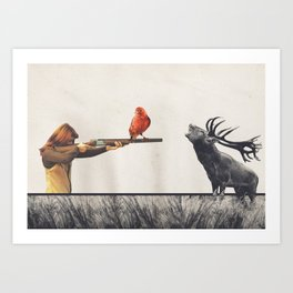 Le tir Art Print