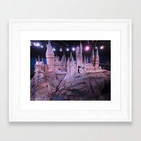hogwarts Framed Art Prints featuring Hogwarts by Samantha Van Prooyen