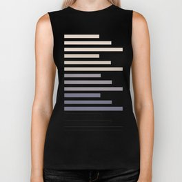Grey Taupe Geometric Minimalist Staggered Stripes Simple Mid Century Zen Art Biker Tank