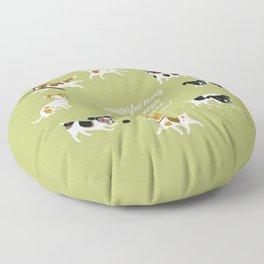 Farmdogs are wonderful things Floor Pillow