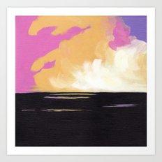 Fields at Sunset Art Print