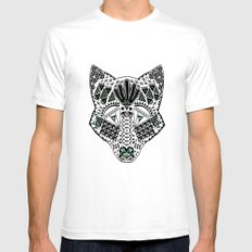 Mint Wolf Head White SMALL Mens Fitted Tee