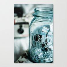 Ribboned Jar  Canvas Print