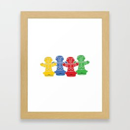 Candy Board Game Figures Framed Art Print