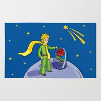 the little prince Area & Throw Rugs featuring Little prince by Dennis Morgan
