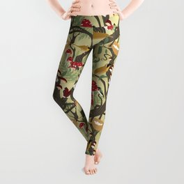 North American Forest Pattern (Natural) Leggings
