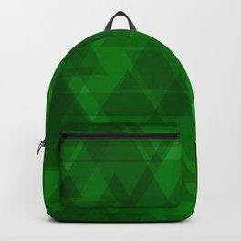 Bright green triangles in intersection and overlay. Backpack