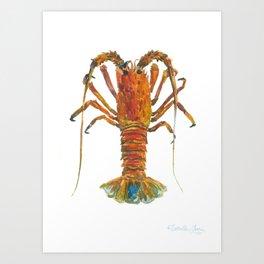 Spiny lobster Art Print