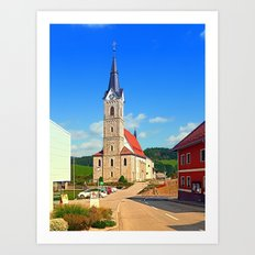 The village church of Reichenau II | architectural photography Art Print