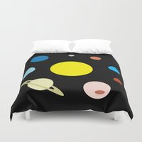 solar system Duvet Covers featuring Solar System by fairandbright
