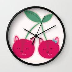 Cherry kitties Wall Clock