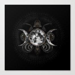 Triple Moon - Triple Goddess  Canvas Print