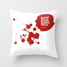 Dexter no.4 Throw Pillow