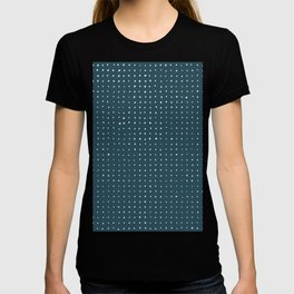 Hand Drawn Dots on Dark Teal T-shirt