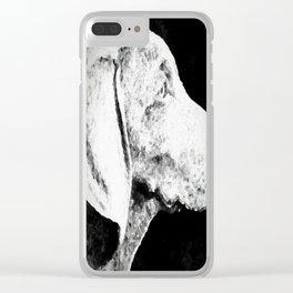 Weimaraner Clear iPhone Case
